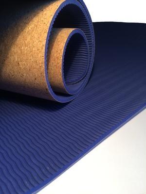 mat, cork yoga mat, exercise mat,