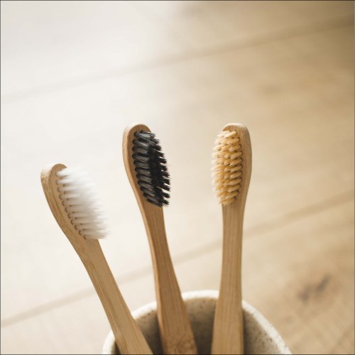 Natural bamboo charcoal bristle toothbrush
